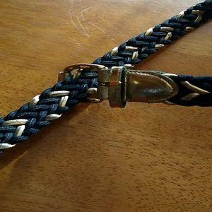 Black and gold Donna Katz belt